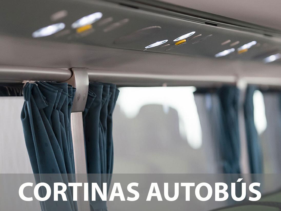 Cortinas para Autobús Personalizadas. En Hazlan Irun confeccionamos Cortinas para Autobús Personalizadas para cualquier tipo de Autobús.